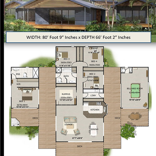 4 bedroom house plans pavilion house plans : 353 m2 | 353Kr