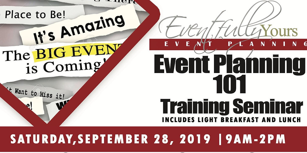 CANCELLED - Event Planning 101 Training Seminar