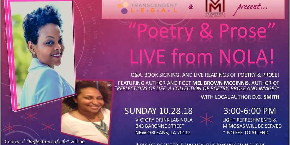 """""""Poetry & Prose"""" LIVE from NOLA!"""