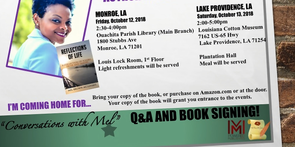 Conversations with Mel...Q&A and Book Signing!