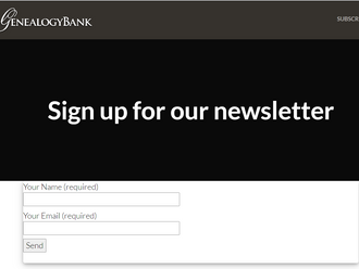 Genealogy bank -      free newsletter