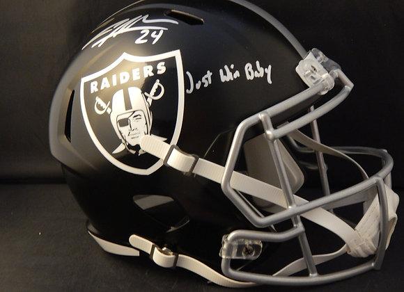 Charles Woodson Oakland Raiders Full Size Blaze w/ Inscription