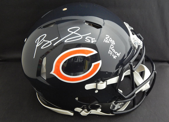Roquan Smith Chicago Bears Full Size Speed Authentic w/ Inscription