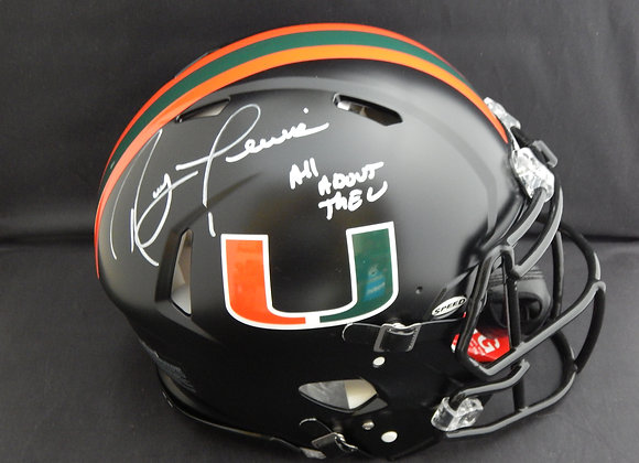 Ray Lewis Miami Hurricanes Full Size Speed Proline Authentic w/ Inscription