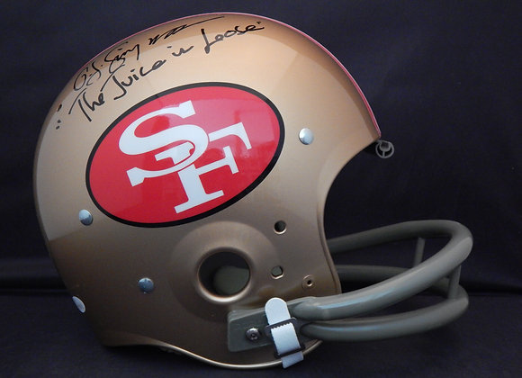 OJ Simpson San Francisco 49ers Full Size TK Suspension w/ Inscription