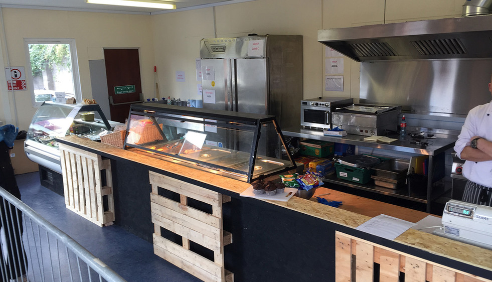 Typical Construct Catering site kitchen