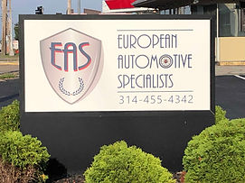EAS Sign out front.JPG