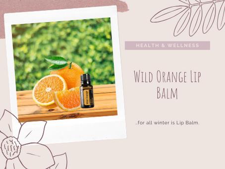Wild Orange Lip Balm.