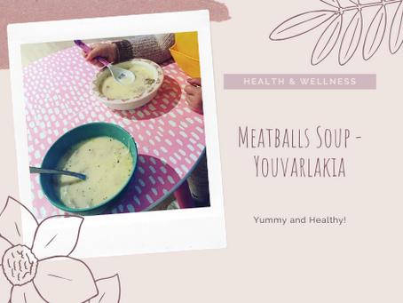 Meatballs Soup - Youvarlakia