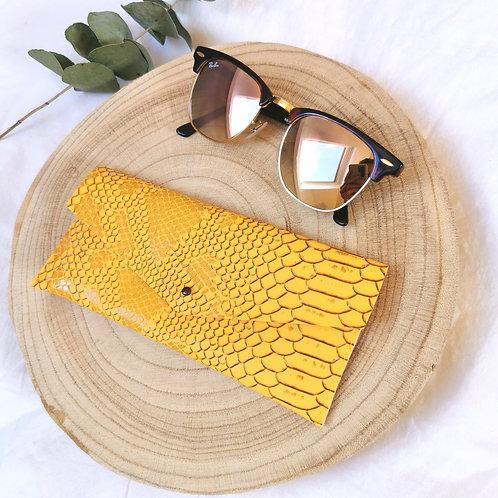 Etui souple à lunettes   COLETTE   Jaune