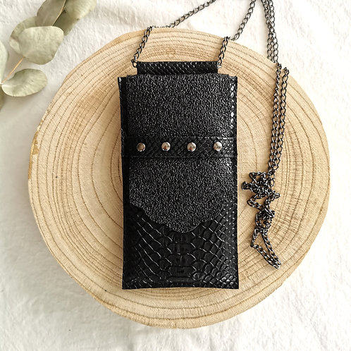 Pochette téléphone+CB | PAULETTE | All black