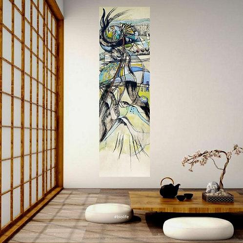 Bel espace japonais avec peinture kakemono