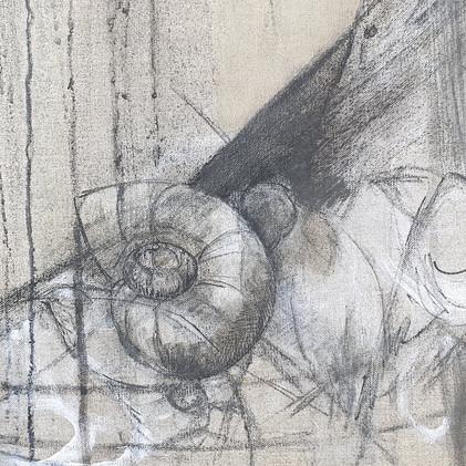 Détail 3 escargot et oiseaux dessin