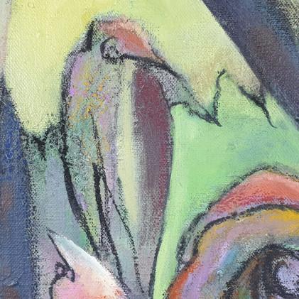 Détail 2 Oiseau imaginaire multicolore