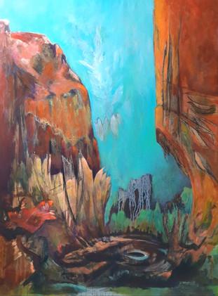 Peinture acrylique sur toile de grand format