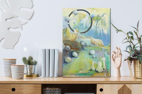 Peinture abstraite Mise en situation