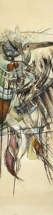 Peinture abstraite Ode aux oiseaux 4
