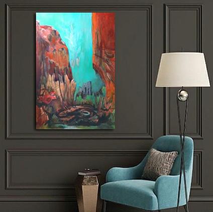 Peinture abstraite paysage par Florence Laurent