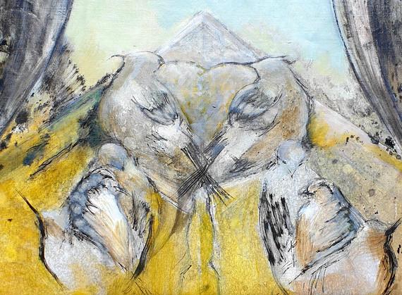 Peinture oiseaux moderne