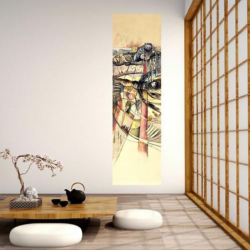 Décor japonais avec peinture de format kakemono