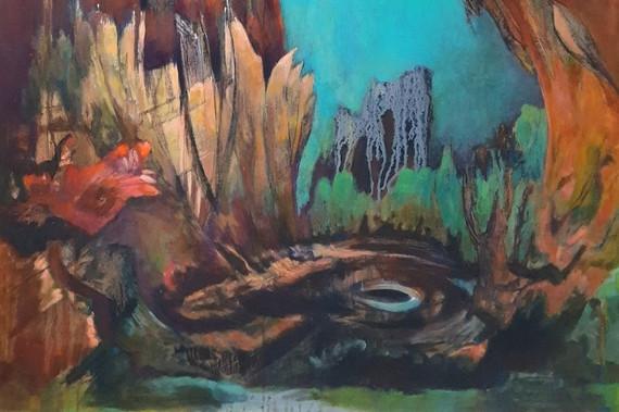 Détail de la peinture Origine