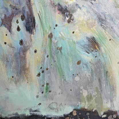 Détail 4 peinture abstraite turquoise