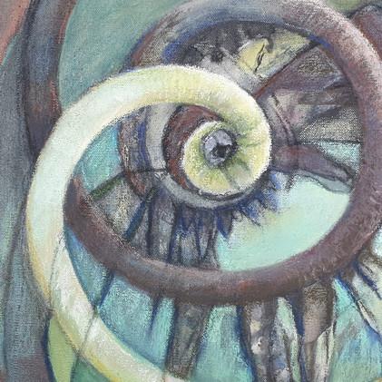 Détail 1 de la peinture Symbole de la double spirale