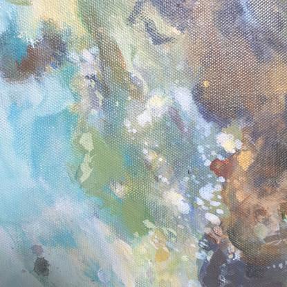 Détail 3 de la peinture sur le thèem de l'eau