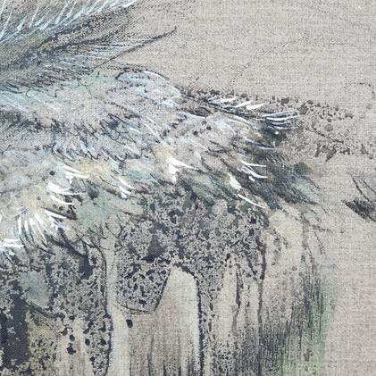 Détail 2 plumes d'oiseaux