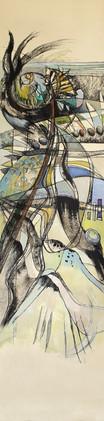Peinture expressioniste sur les oiseaux en disparition