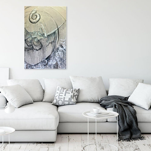 Magnifique toile au dessus de ce canapé