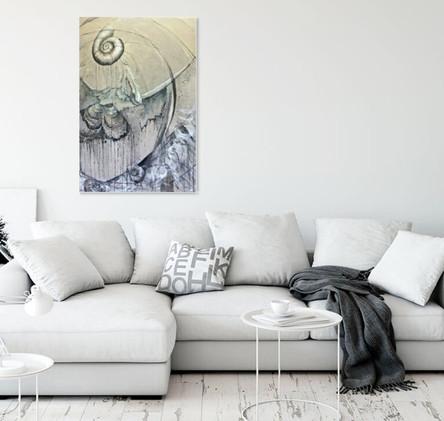 Peinture grand format pour salon contemporain