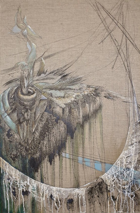 Symbolic painting with bird