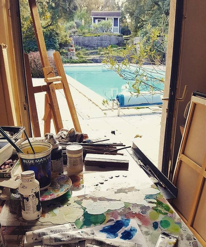 workshop of a painter