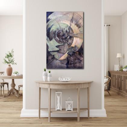 Peinture grand format pour décorer intérieur moderne