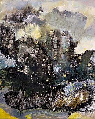 collection des peintures de paysage abstrait de Florence Laurent