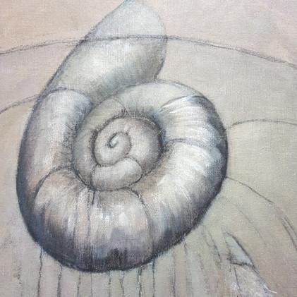 Détail 5 spirale symbolique de l'origine de la vie