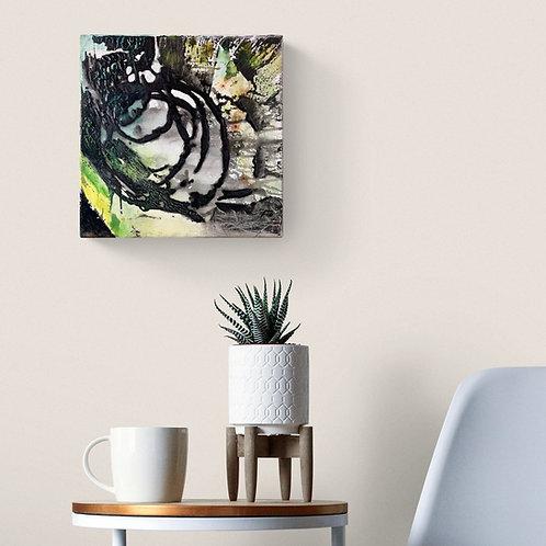 Une jolie toile carrée pour un décor contemporain