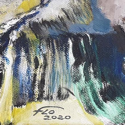Détail 3 siganture de FLO, artiste peintre français