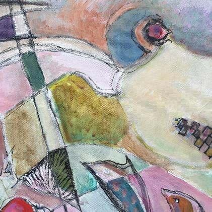 Détail 4 Peinture abstraite géométrique