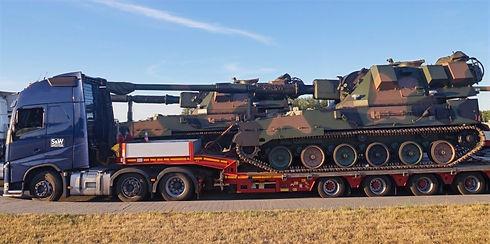 Spezialtransporte Überhöhe Panzer Spedition S&W