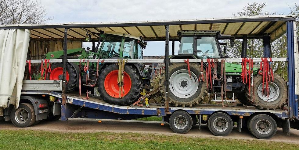 Traktortransporte Transport Traktor Schlepper Trecker S&W Internationale Spedition