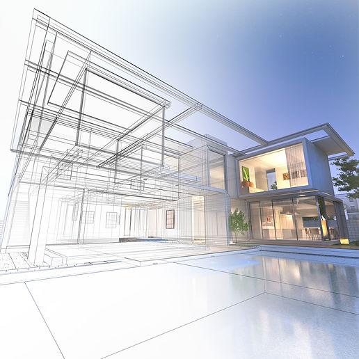 Architektonische Darstellung von Haus