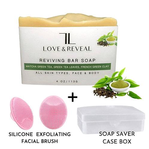 REVIVING BAR SOAP (MATCHA GREEN TEA & FRENCH GREEN CLAY)