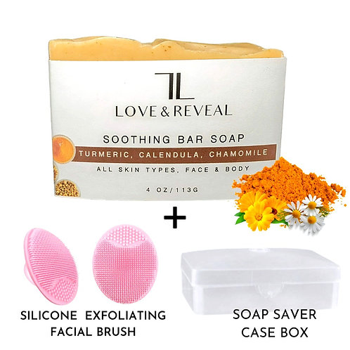 SOOTHING BAR SOAP(CALENDULA, TURMERIC & CHAMOMILE)