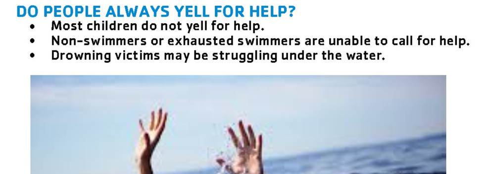 drowning facts do people yell for help.j