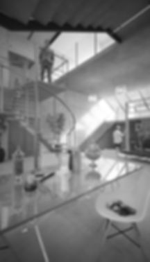 Render interior de casa experimental
