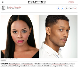 Breaking News! Krystal Joy Brown to Lead New Holiday film with Curtis Hamilton! (Announced May 20th,