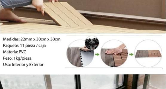 Deck Wpc Click-instalalo Ext/int, Caja 1m2