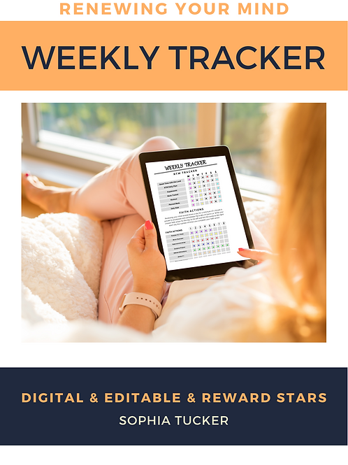 Renewing The Mind Tracker - Editable